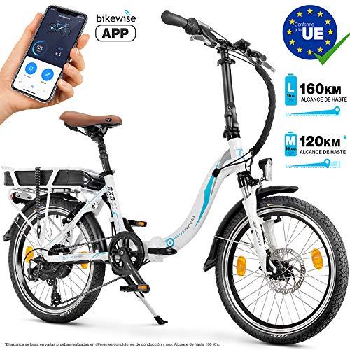 Bluewheel Bicicleta eléctrica de 20 Pulgadas Plegable 14,4/