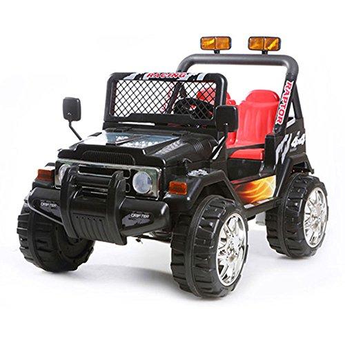babyfun Macchina Elettrica per Bambini 2 posti 12V Jeep Safari 618 Nera