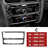 DHFBS Auto Styling Konsole Navigation AC Rahmen Dekoration Abdeckung CD Panel Trim Carbon Aufkleber, Für Audi A4 B8 A5 S5 S4 RHD LHD