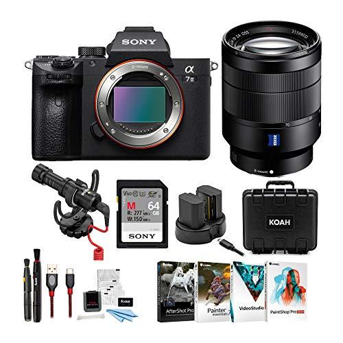Sony a7 III Full Frame Mirrorless Interchangeable Lens Camera w/ 24-70mm Lens Bundle