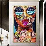 KWzEQ Imprimir en Lienzo Decoración del hogar de la Imagen del Arte de la Pared del Cuerpo Humano Abstracto para Carteles de la Sala de estar60x90cmPintura sin Marco