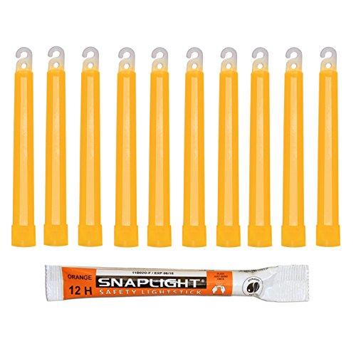 Cyalume Barras de luz naranja SnapLight 15cm, 6 inch super brillante con duración de 12 horas (cartón de 500)