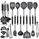 36PCS Stainless Steel Silicone Kitchen Cooking Utensil Set with Holder for Countertop, RCXHIKER...