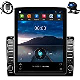 Hikity Double Din Android Car Stereo 9.7 Inch Head Unit with GPS Car Bluetooth FM Radio Support WiFi Connect Mirror Link for Android/iOS Phone + Dual USB Input & 12 LEDs Backup Camera