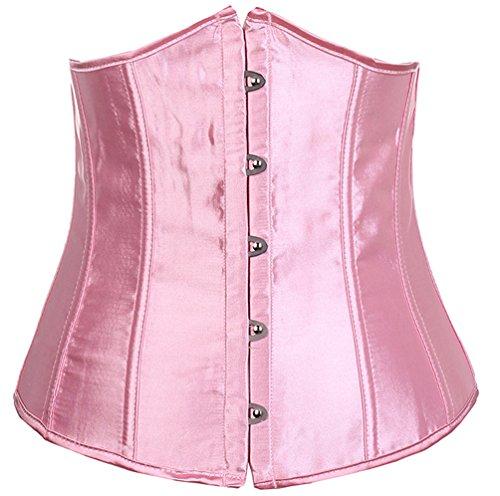 ZAMME Mujer'S Rocker Style Vest Underbust Moda Corsé Reductora Cintura