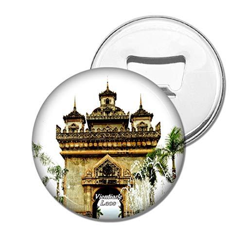 Weekino Patuxay Denkmal Vientiane Laos Bier Flaschenöffner Kühlschrank Magnet Metall Souvenir Reise Gift