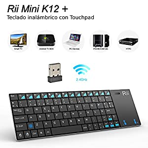 Rii Mini K12 Teclado Bluetooth Inalámbrico con Multi-Touchpad Para ...