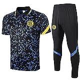 CCJJ 2021 Camiseta para Hombre Intěr Mǐlǎn Jǒvětǐc Jersey de fútbol Juego de fútbol Traje de Entrenamiento de fútbol Equipo de Entrenamiento Uniforme Equipo de Fútbol Equ L