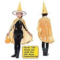 コスプレ衣装 キッズハロウィンコスチュームボーイズ・ガールズハロウィーンのカボチャケープ帽子パーティーコスチュームコスプレ SYMJP (Color : C593, Size : フリー)