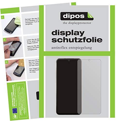 dipos I 6X Schutzfolie matt kompatibel mit LG V60 ThinQ 5G Folie Bildschirmschutzfolie (bewusst Kleiner als das Glas, da Dieses gewölbt ist)