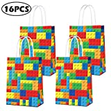 Building Blocks Goodie Candy Party Gift Bags for Lego Party Supplies, Color Bricks Theme Building Block Party Supplies for Kids Birthday Party Decor