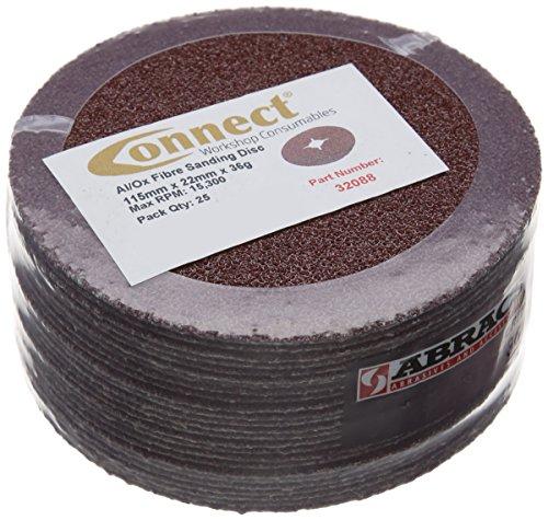 Connect 32088 Abracs Fiberschleifscheiben, P36 x 115 mm, 25 Stück
