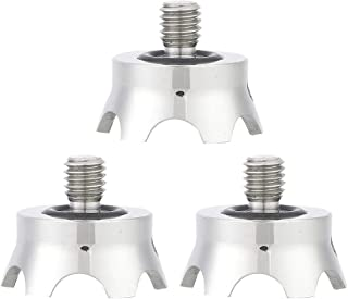 3 Pcs Stainless Steel Tripod Spike with 3//8 Inch Interface Non-Slip Camera Tripod Spike Mount Adapter for Manfrotto Gitzo