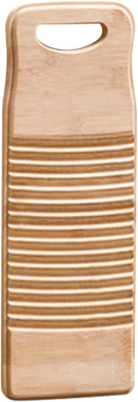 Washboard for Laundry, Septcity Clothes Wash Boards-old Fashioned Hand Washer for women School Home Durable Wood Anti-slip Bamboo Household Tools Vintage Decor(15.7*5.9*0.7 Inch)