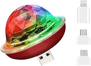 Macabolo Mini USB disco bal licht, draagbare led-autosfeer, licht stroboscoopverlichting voor kinderen, verjaardagen, fees...
