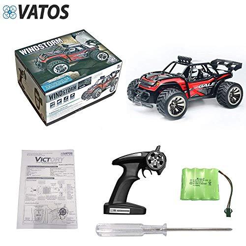 RC Auto kaufen Truggy Bild 6: VATOS Ferngesteuertes Auto, Maßstab 1:16, 2,4 Ghz, Rennwagen, Rennrad-Crawler, Schwarz*