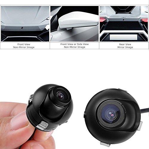 Mbuynow Auto Rückfahrkamera Kabel, 360° Drehbar KFZ Einparkhilfe mit Infrarotlicht IP68 wasserdicht Mini HD Anti Fog Kamera mit 170° Weitwinkel Nachtsicht
