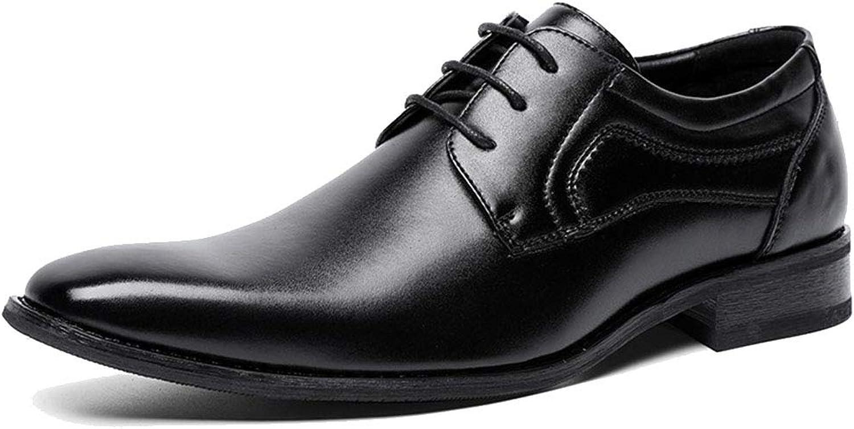 MAKAFJ Herren Oxford Schuhe Leder Formelle Kleidung Schuhe Handmade Lace Up Hochzeit Modische Büro Vintage Casual Business Schuhe