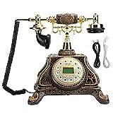 ASHATA Teléfono Fijo Vintage, Teléfono Fijo de Escritorio Luz de Fondo Teléfono...