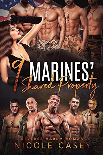 Nine Marines' Shared Property: A Reverse Harem Romance (Love by Numbers Book 8) (English Edition)