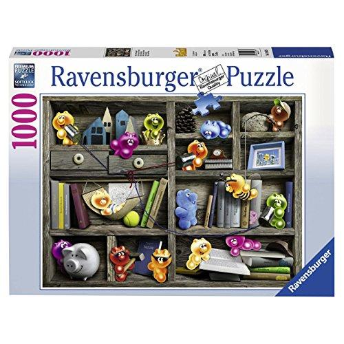 Ravensburger Puzzle  19483 - Gelini im Bücherregal - 1000 Teile