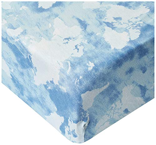 HonestBaby Organic Cotton Fitted Crib Sheet Watercolor World One Size