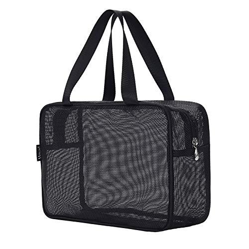 Moyad Mesh Kulturbeutel transparente Organizer Schnell Trockend Kosmetiktasche durchsichtige Kulturtasche mit Reißverschluss für Reise Gym Bad Schwimmen etc. 31 x 11 x 21 cm …