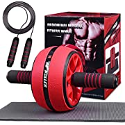 Jungle Ab Roller Wheel Workout Equipment - Ab Roller Wheel for Abdominal Exercise,Home Workout Equipment,Fitness Ab Roller for Core Workouts,Home Abdominal Exercise Equipment for Both Men Women