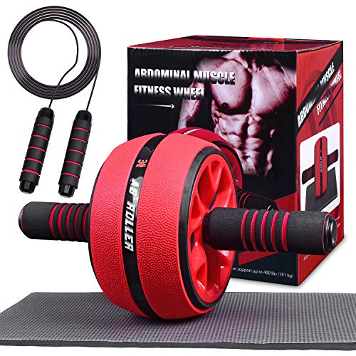 Jungle Ab Roller Wheel Workout Equipment - Ab Roller Wheel for Abdominal Exercise,Home Workout Equipment,Fitness Ab Roller for Core Workouts,Home Abdominal Exercise Equipment for Both Men Women…