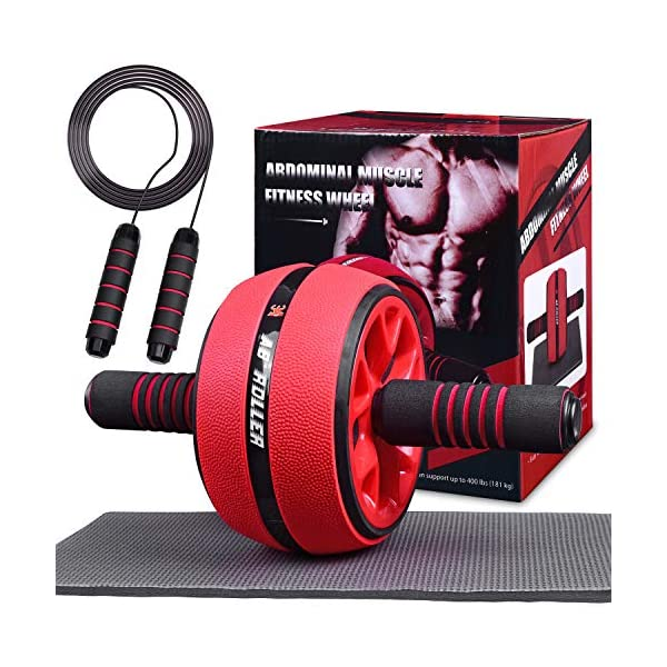 Jungle Ab Roller Wheel Workout Equipment – Ab Roller Wheel for Abdominal Exercise,Home...