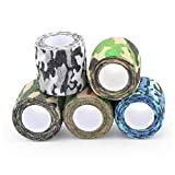 Camouflage Tape, For Disposable Cohesive Tattoo Machine Grip Cover Wrap,Camouflage Self Adhesive Bandage Self Adherent Tape Wrap For Tattoo Pen Tattoo Grip Tube Tattoo Supplies.(size:4.92 Yard Long1