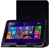 para HP Elitepad 900 G1 1000 G2 10.1 Tablet PC Patrón de Seda Funda de Cuero PU Funda Ultra Delgada Funda con Tapa-Rosa roja