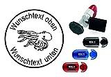 Taucherstempel « OKTOPUS » mit persönlichem Namen & Tauchspruch - Abdruckgröße ca. Ø 24 mm -...