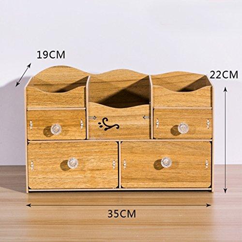 Stockage de bureau Boîte de rangement cosmétiques Tiroir Grand Dresser Soins de la peau étagère Bijoux Corée Finition (couleur : N ° 4)