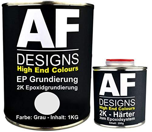 Alex Flittner Designs Epoxidfüller 1,20kg 2K Grundierung Füller EP Füller in grau für Autolack Rostschutz