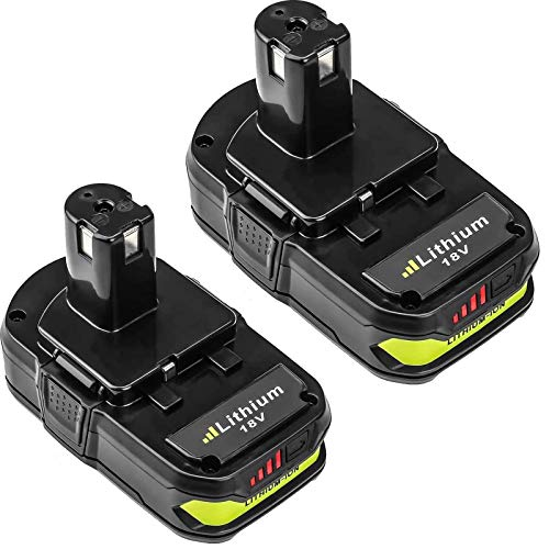 2 Packs P102 3000mAh Replacement Battery Compatible with Ryobi 18V Lithium-ion Battery P102 P103 P104 P105 P107 P108 for Ryobi 18-Volt ONE+ Plus Power Tool