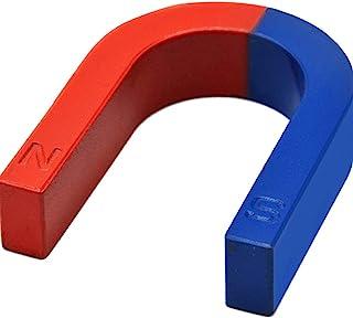 Physics Experiment Pole Teaching Red Blue Painted U Shaped Horseshoe Magnet