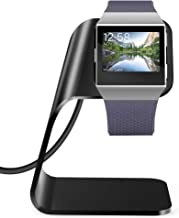 KIMILAR Charger Dock Compatible with Fitbit Ionic Smart Watch, Replacement Stand Station Charging Cradle Adapter Holder with 3 ft USB Charging Cable (Can Charge with Case on), Black