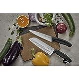 Victorinox Swiss Classic Küchen-/ Santokumesser, 17 cm Klinge, Kullenschliff, Edelstahl, Rostfrei, schwarz - 6