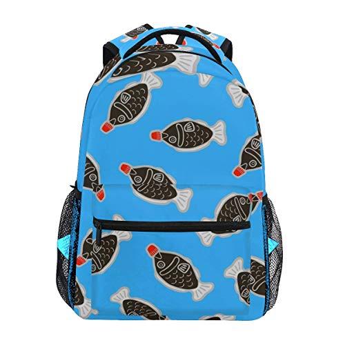 College Bag Sushi Soja Fisch Reisen College Daypack Laptop Rucksack Leichte Langlebige Schulmode Casual Print Schulgeschenk