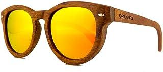 1412afe6ad Okulars® Vintage - Gafas de Sol de Madera Redondo para Hombre & Mujer, Hecho