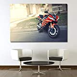 MZYZSL Yamahaa Motorcycle Red Car Wallpaper Wall Art Poster Canvas Cloth Printed Decorative Paintings 60X90cm No Frame
