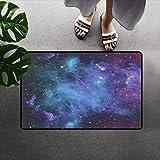 N/A Impresión 3D De Alfombrillas Alfombra De Decoración Espacial Alfombra Grande con Estampado De Galaxias, Estrellas En El Espacio, Planetas Astronómicos, Celosía En El Universo