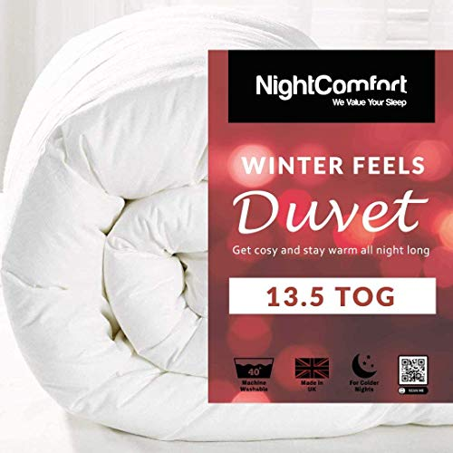Night Comfort Winter Feels Ultra Snuggle Anti Allergy 13.5 Tog Winter Warm Duvet Quilt (Super King)