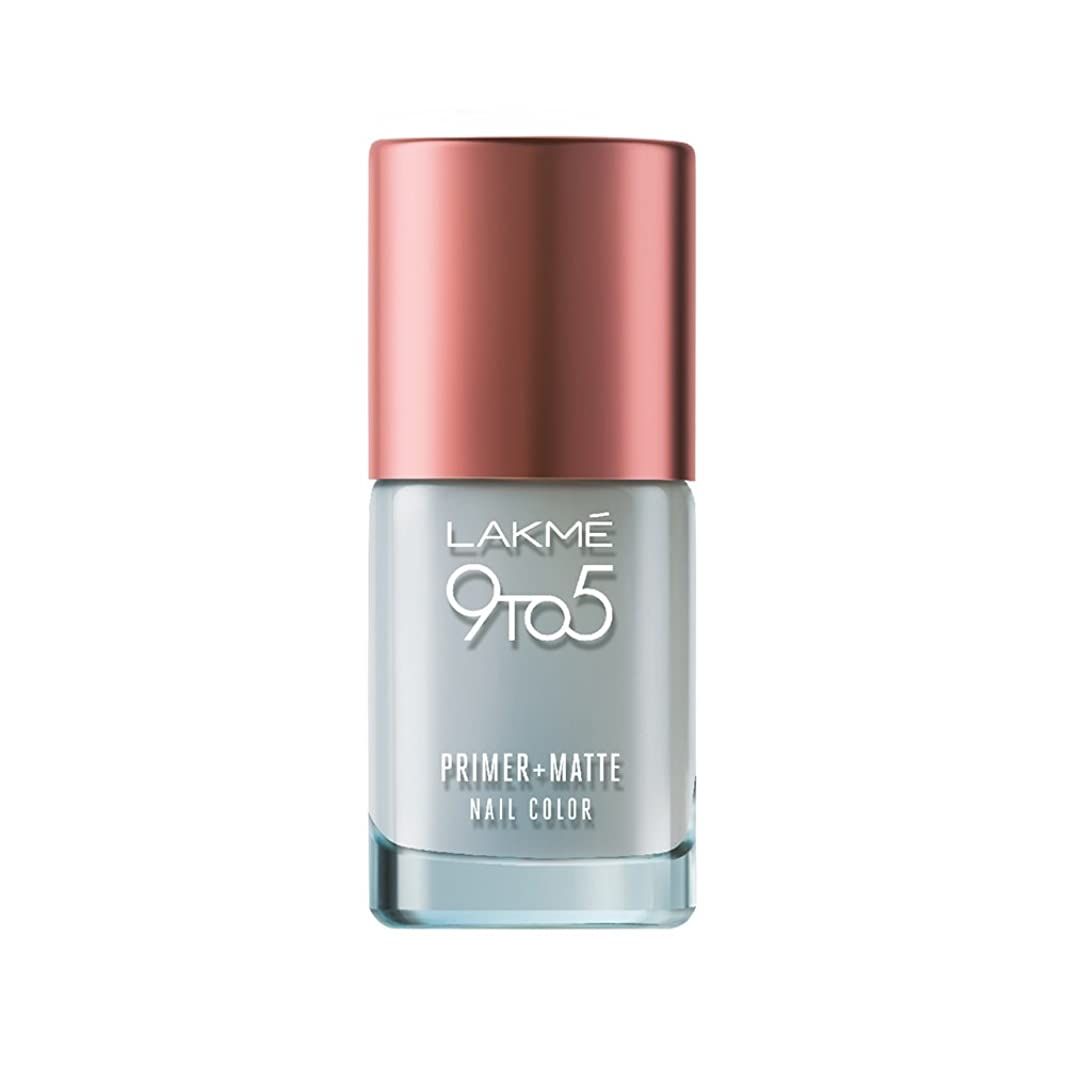 区別するお祝いなくなるLakme 9 to 5 Primer and Matte Nail Topcoat, Clear, 9ml