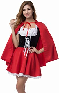 Moncey Women's Sexy Red Riding Hood Costume