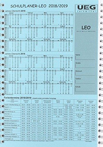 Lehrerkalender-Schulplaner LEO 2018-2019 DIN A5