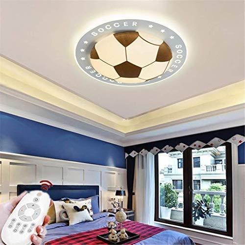 SKSNB Lámpara de Techo LED Lámpara de guardería Regulable con Control Remoto Lámpara de Techo Creativa Cálida Romántica Candelabro de diseño Fútbol Acrílico Lámpara de Techo para dormito