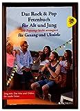 Libro de grasas Rock & Pop para jóvenes y mayores, 100 Popsongs fáciles de arreglar para canto y ukelele, libro de canciones con Dunlop Plek