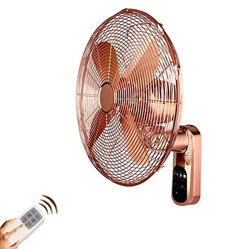 ZZHFS Ventilador Ventilador de Pared - Metal Control Remoto Antiguo Ventilador de Pared Retro Colgante de Pared Ventilador Alambre de Cobre Motor Hogar Silencio 16 Pulgadas
